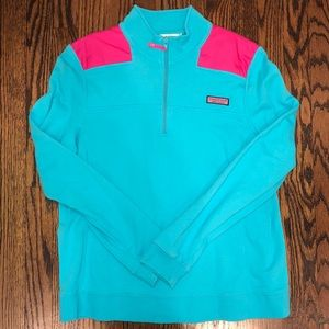 Blue and Pink Vineyard Vines Shep Shirt